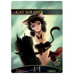 Magic The Gathering Token - Cat Soldier
