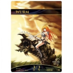 Magic The Gathering Token - Wurm V2