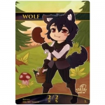 Magic The Gathering Token - Chibi Wolf