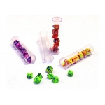 Dés  Toxic (set De 7 Types De Mini Dés 9mm En Tube)