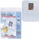 Lot De 10 Feuilles Pokemon 9 Cases