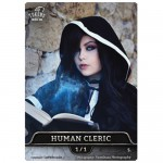 Magic The Gathering Token - Human Cleric V2