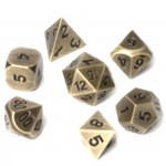 Metal RPG Dice Set - Antique Gold