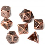 Metal RPG Dice Set - Antique Copper