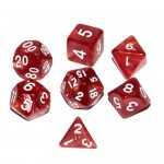 16mm - Role Playing Dice Set - Charming Red