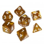 16mm - Role Playing Dice Set - Dwarven Gold
