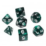 16mm - Role Playing Dice Set - Mystic Green