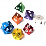 Dés  Metal Dice 20mm Set - Gem Color