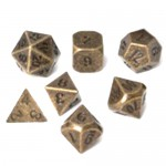 Dés  Metal Dice 20mm Set - Gun Metal