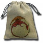 Dice Bag - Dragon Beige