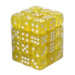 Boite De 36 Dés 6 Faces 12mm  Transparent Yellow