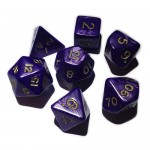 16mm - Role Playing Dice Set - Purple Strike