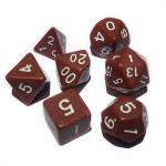 16mm - Role Playing Dice Set - Brown