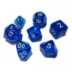 16mm - Role Playing Dice Set - Crystal Blue
