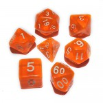 16mm - Role Playing Dice Set - Crystal Orange