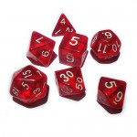 16mm - Role Playing Dice Set - Crystal Red