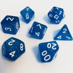 16mm - Role Playing Dice Set - Magic Blue
