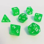 16mm - Role Playing Dice Set - Magic Green
