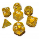 16mm - Role Playing Dice Set - Crystal Yellow