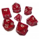 16mm - Role Playing Dice Set - Magic Red