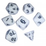 16mm - Role Playing Dice Set - White