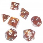 Dés  16mm - Role Playing Dice Set - Perle Marron