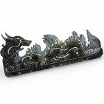 Card Holder S - Dragon FullPrint Gray