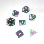Metal Dice Set - Scorched Rainbow