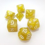 16mm - Role Playing Dice Set - Flash Yellow
