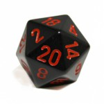 D20 Metal Spindown Black avec Sacoche