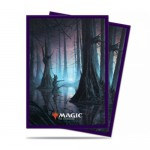 Sleeves Standard x100 Magic The Gathering Unstable Lands - Swamp