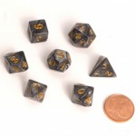 Dés Fairy RPG Set - Marbled Black