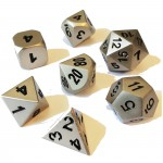 Dés  Metal Dice 20mm Set - Silver