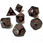 Dés  Metal Dice 20mm Set - Noir / Rouge
