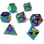 Dés  Metal Dice 20mm Set - Arc-en-Ciel