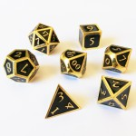 Dés  Metal Dice 20mm Set - Steampunk Gold / Noir