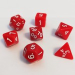 Dés  16mm - Role Playing Dice Set - Opaque Rouge