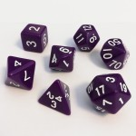 Dés  16mm - Role Playing Dice Set - Opaque Violet