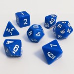 Dés  16mm - Role Playing Dice Set - Opaque Bleu