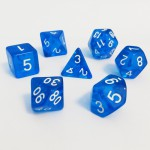 Dés  16mm - Role Playing Dice Set - Transparent Bleu