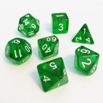Dés  16mm - Role Playing Dice Set - Transparent Vert
