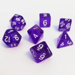 Dés  16mm - Role Playing Dice Set - Transparent Violet