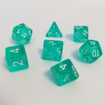 Dés  16mm - Role Playing Dice Set - Transparent Emeraude