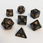 Dés  16mm - Role Playing Dice Set - Perle Noir