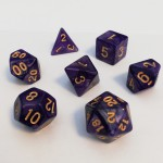Dés  16mm - Role Playing Dice Set - Perle Violet