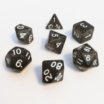 Dés  16mm - Role Playing Dice Set - Brillant Noir