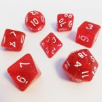 Dés  16mm - Role Playing Dice Set - Brillant Rouge