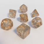 Dés  16mm - Role Playing Dice Set - Brillant Blanc