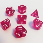 Dés  16mm - Role Playing Dice Set - Brillant Rose