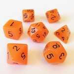 Dés  16mm - Role Playing Dice Set - Brille dans la Nuit Orange